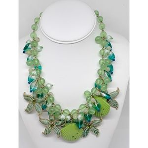 Chico's Starfish & Shell Blue & Green Necklace